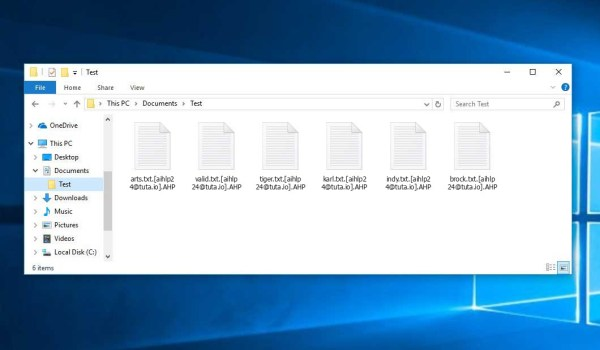 AHP Ransomware - encrypt files with .[aihlp24@tuta.io].AHP extension