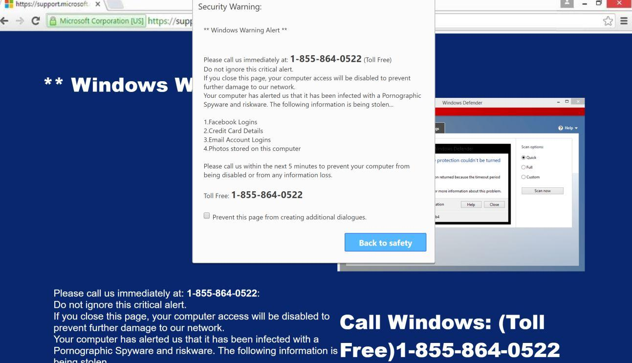 What is Windows Defender – Security Warning?