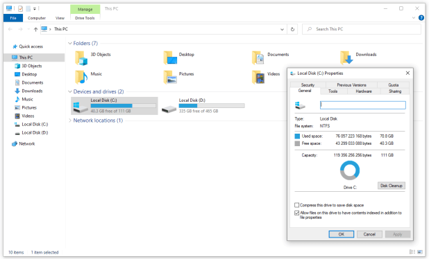 Checking the disk file system