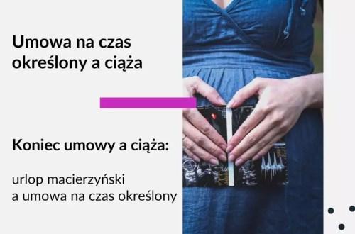 Tekst na grafice: Adwokat Kobiet. Umowa na czas określony a ciąża. Koniec umowy a ciąża. Urlop macierzyński a umowa na czas określony. Na zdjęciu na grafice kobieta w ciąży.