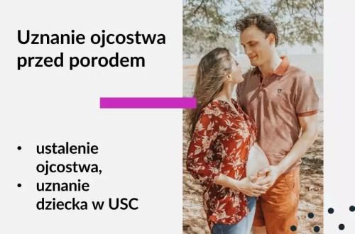 Tekst: Adwokat Kobiet. Uznanie ojcostwa przed porodem. Ustalenie ojcostwa. Uznanie dziecka w USC. Na zdjęciu mężczyzna i kobieta w ciąży.