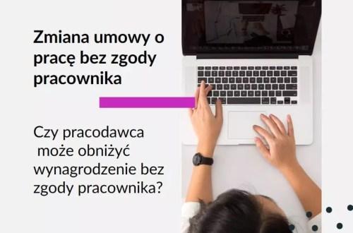 Obrazek na bloga Adwokat Kobiet adwokat z Warszawy Aleksandry Wejdelek-Bziuk. Tekst: Czy pracodawca może obniżyć wynagrodzenie bez zgody pracownika? Zmiana umowy o pracę bez zgody pracownika