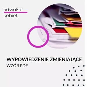 wypowiedzenie zmieniające wzór - okładka produktu w sklepie Adwokat Kobiet