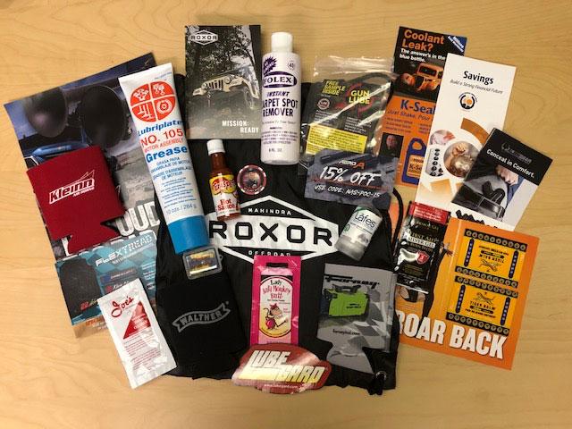 NASCAR Pole Position Sampling Roxor Bags