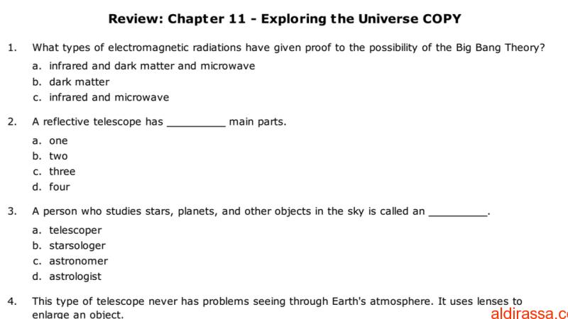 أسئلة سيانس الصف السابع منهج انكليزي