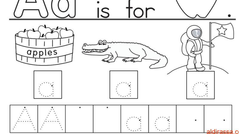 ورقة عمل على حروف اللغة الإنجليزية للصف الأول