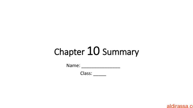 الوحدة 10 علوم بالمنهج الانكليزي الصف الثامن