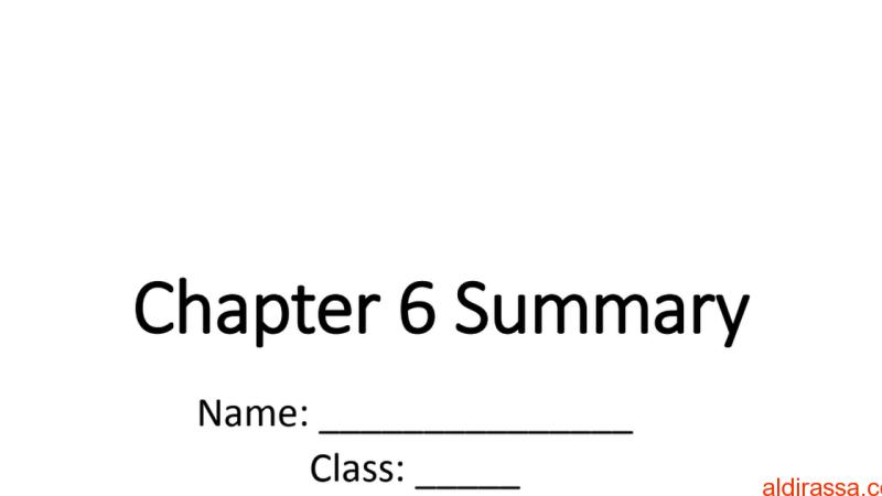 الوحدة 6 علوم الصف الثامن منهج انكليزي