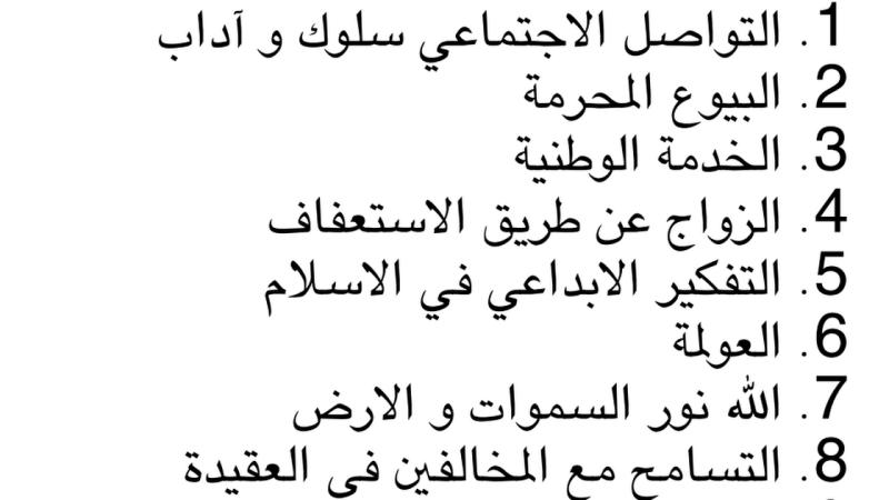 تلخيص جميع دروس الفصل الثالث للتربية الاسلامية للصف الثاني عشر متقدم