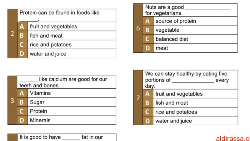 لغة إنجليزية(Pop Quiz unit 7) للصف السابع مع الإجابات