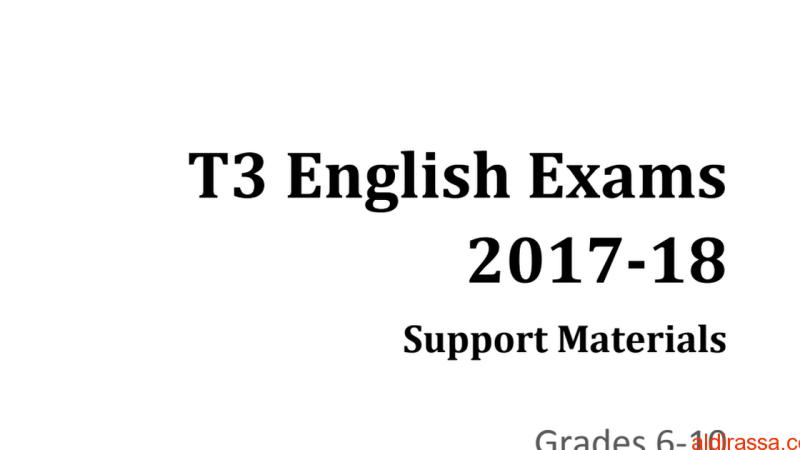 ملف هام للغة الانكليزية من الصف السادس للعاشر