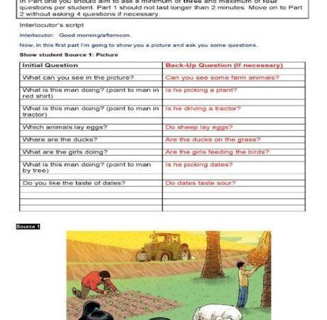 نموذج اسئلة تحدث لغة إنجليزية الصف الثانى الفصل الثاني
