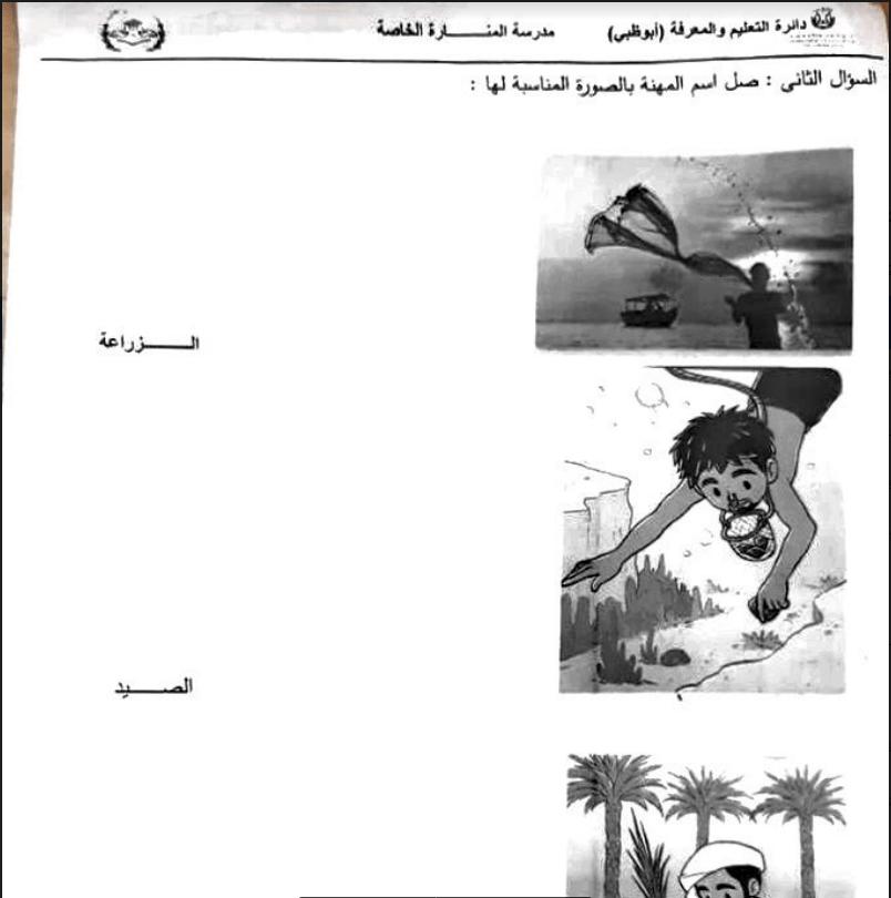 ورقة عمل اجتماعيات الصف الاول