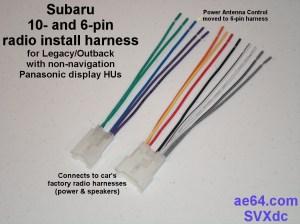 Radio Wiring Adapter (Harness) for Subaru and Toyota