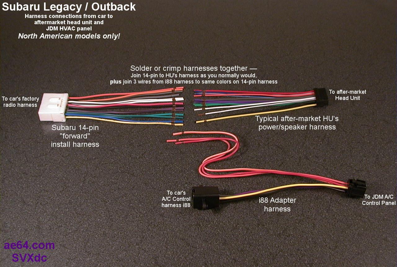 2013 Subaru Stereo Harness Radio Wiring Adapter