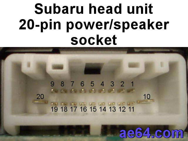 subaru 20pin radio harness pinout