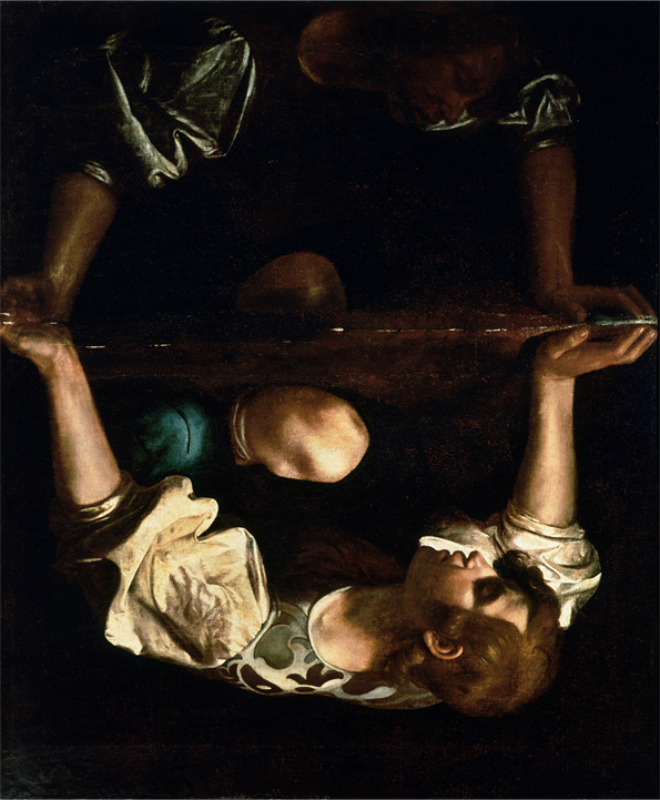 "Audio description of Caravaggio's ""Narcissus at the Source"" (rotated)"