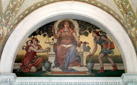 Good Legislation mural by Elihu Vedder