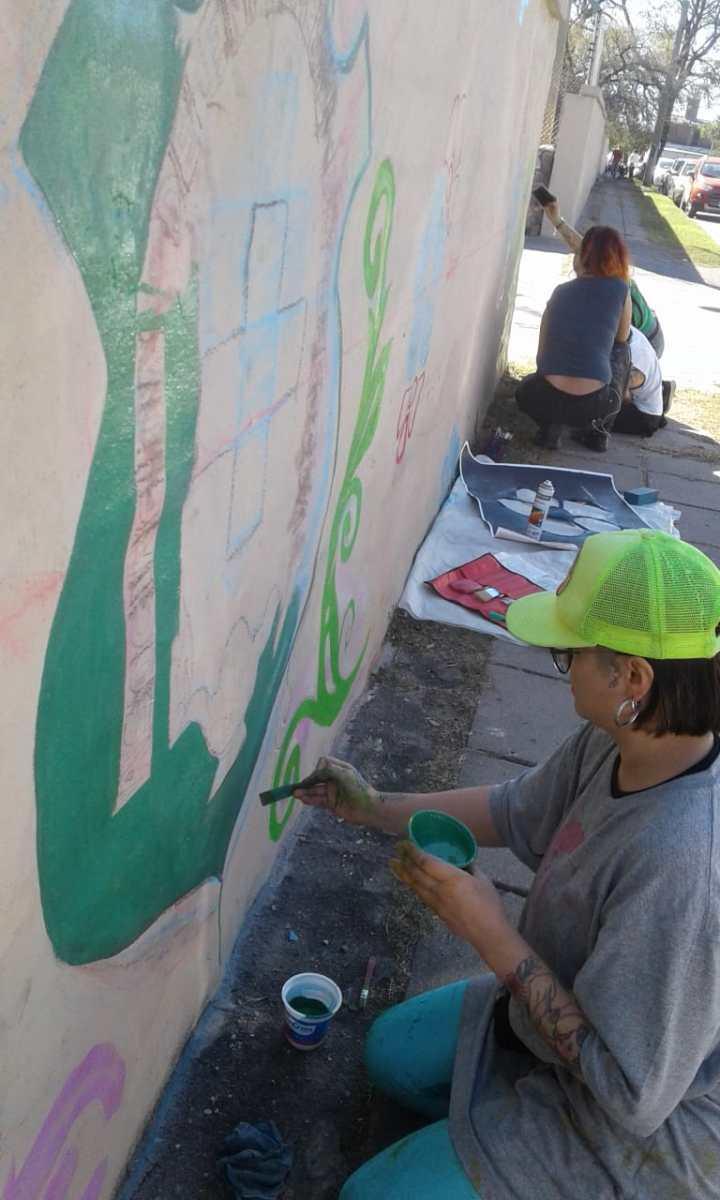Actividades por los 60 años de AEC - Pintada de Mural - 18