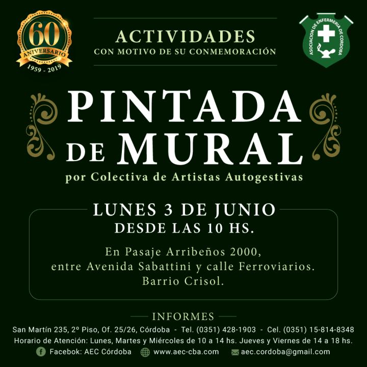 Actividades por los 60 años de AEC - Pintada de Mural -