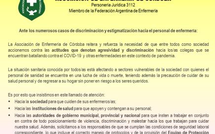 Comunicado de AEC ante actitudes discriminatorias y violentas hacia el personal de salud