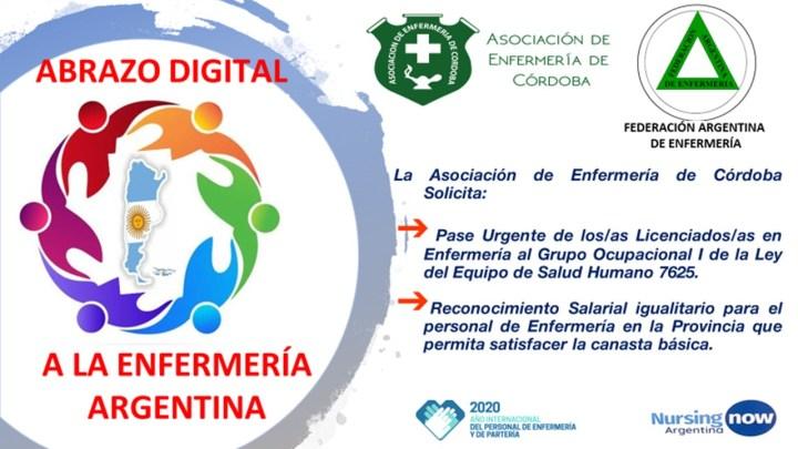 Federación Argentina de Enfermería: Abrazo digital a Enfermería