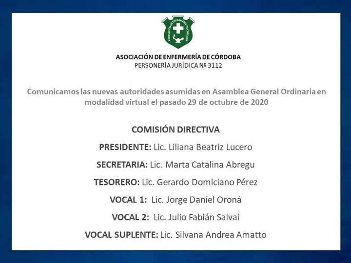 Nuevas autoridades de AEC 2