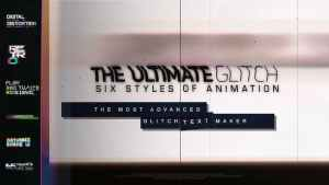 The Ultimate Glitch Text Maker + 70 Title Animation Presets Pack