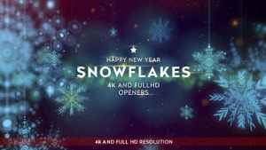 Snowflakes Openers/ Winter 3D Snowflake Logo Reveal/ Merry Christmas Happy New Year Snow Light Intro
