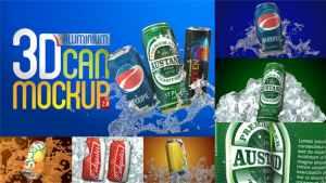 3D Aluminium Pop Top Soda Drink Can 2.0