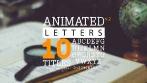 Animated Letters & 10 Titles Layout 2