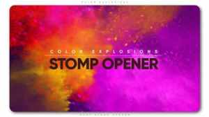 Color Explosions Stomp Opener