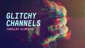 Glitchy Channels Parallax Slideshow