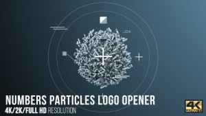 Numbers Particles Logo Opener