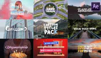 After Effects Projects   Download Cartoon Titles Pack