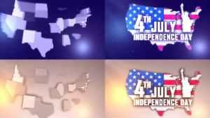 USA States Patriotic Logo