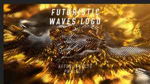 Futuristic Waves Logo