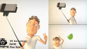 Selfie Logo with 3D Character
