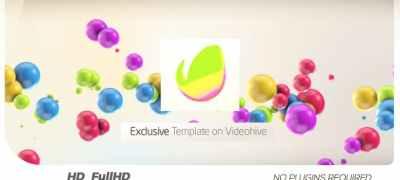 Colorful 3D Balls // Kids logo