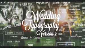 Wedding Typography Titles – Version 2