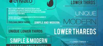 21 Modern Lower Third