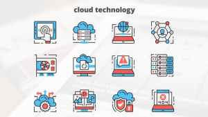 Cloud Technology – Thin Line Icons