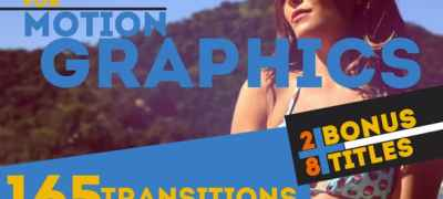 165 Transitions & 28 Titles Pack Motion Graphics