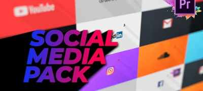Flat Social Media Pack For Premiere Pro | Mogrt