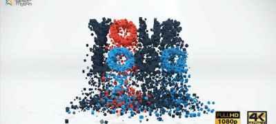 3D Particles Logo Build & Break