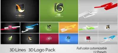 3D Lines 3D Logo Pack