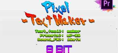 Arcade Text Maker 8bit Glitch Titles For Premiere Pro | Mogrt