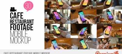 Cafe Restaurant Footage Mobile Mockup