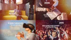 Cinematic Timeline Slideshow