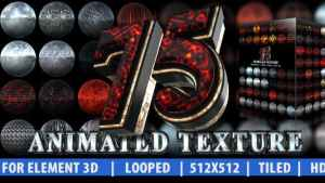 75 Animated Texture (Element 3D)